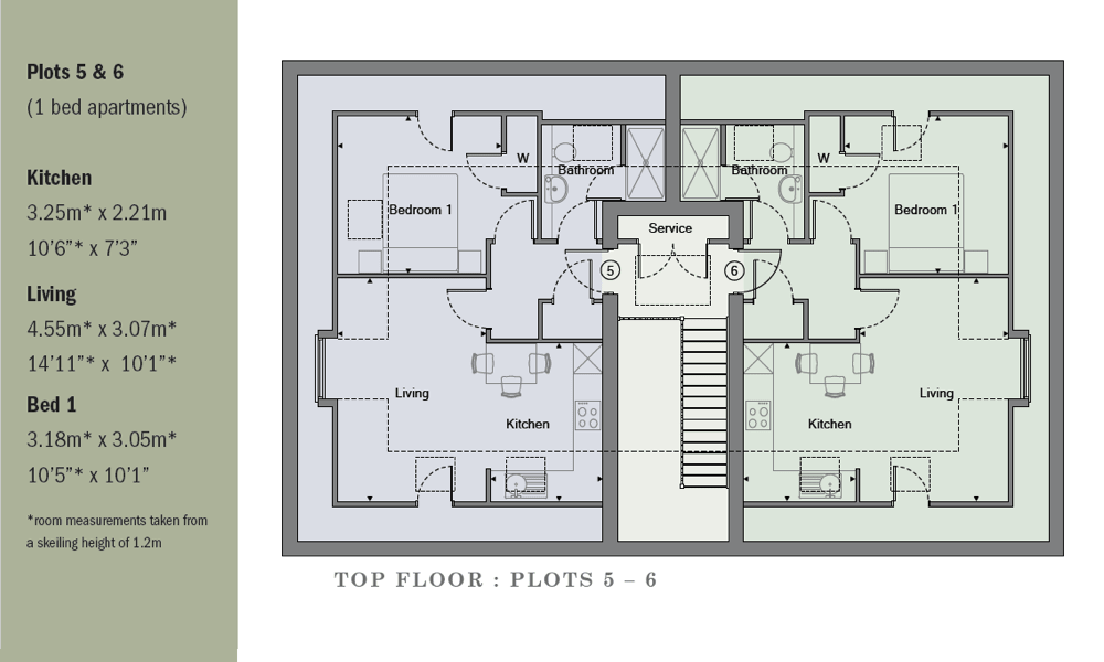Floorplans for Chossy Place, new flats for sale in Epsom Surrey from Oakton Developments Ltd