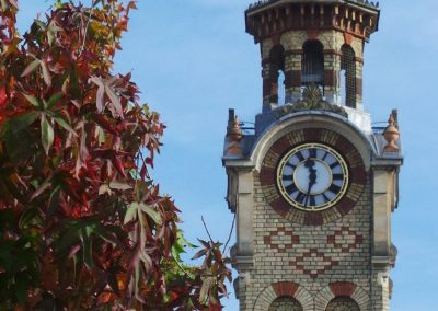 The clock tower in Epsom town centre, a local landmark