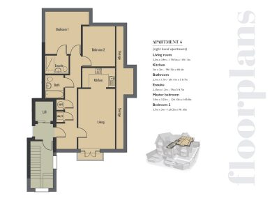 Elizabeth Place floor plan number 4 for new flats for sale in Surrey in Epsom