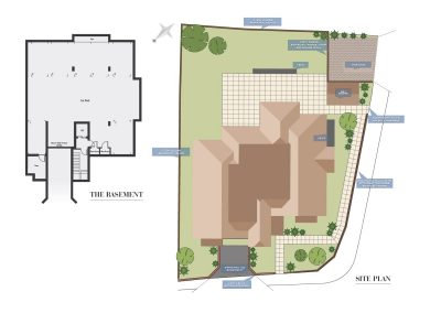 Elizabeth Place site plan for new flats for sale in Surrey in Epsom