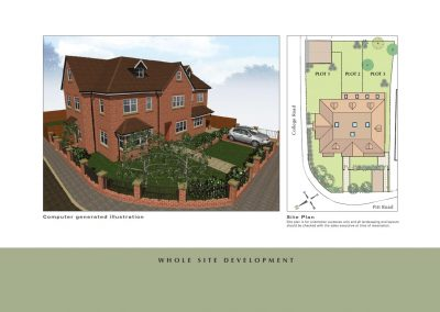 Elizabeth Villas site plan for new houses for sale in Surrey