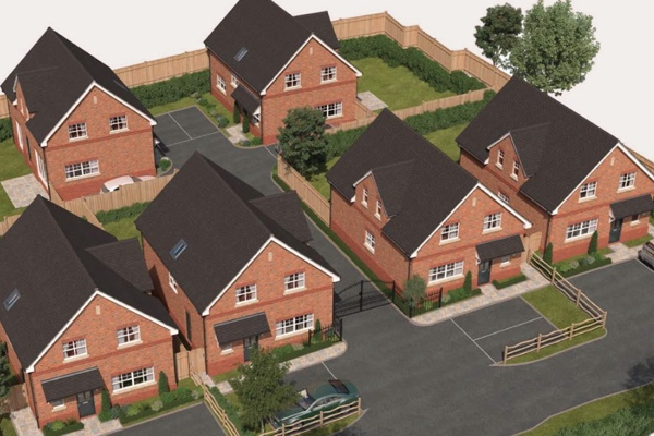 New build detached houses