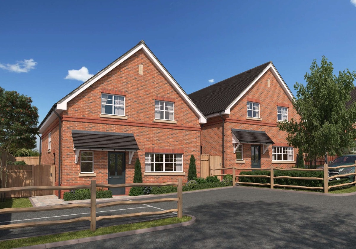 New build houses in Ashtead near Epsom in Surrey