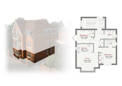 Plot 1 - Ransley House New Build Apartments Epsom Surrey