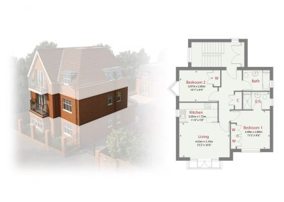 Plot 2 - Ransley House New Build Apartments Epsom Surrey