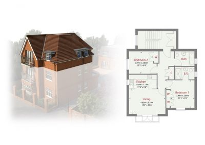 Plot 3 - Ransley House New Build Apartments Epsom Surrey