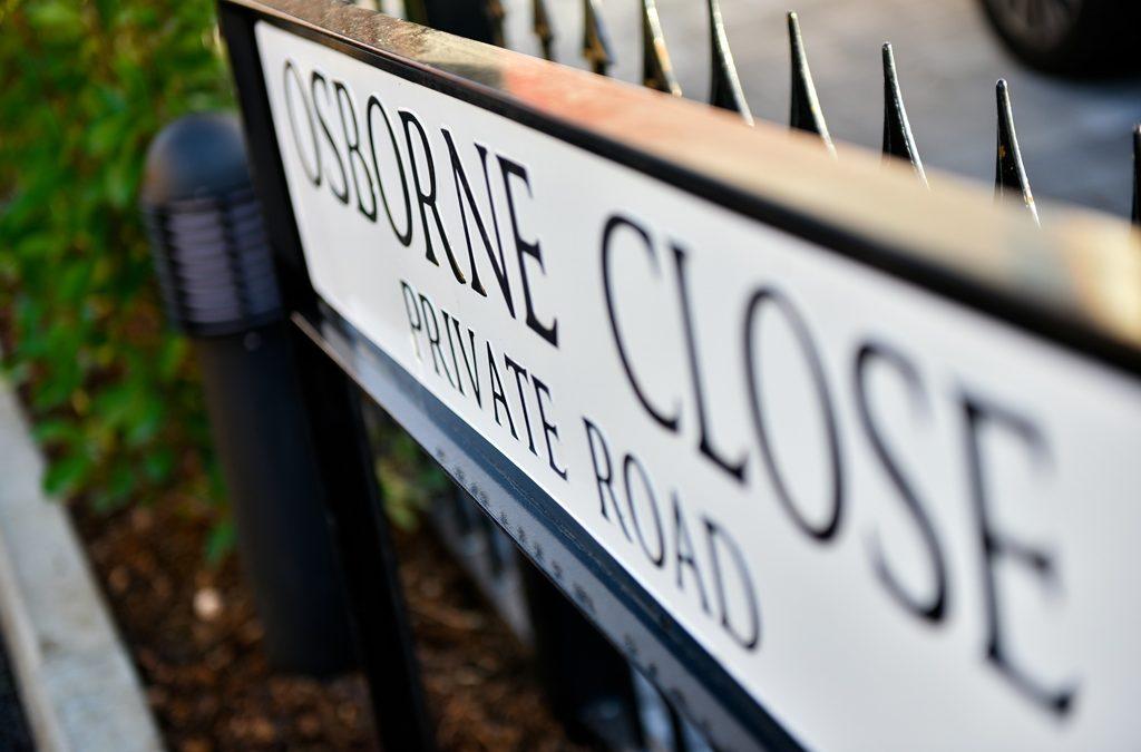 Street Sign for Osborne Close Epsom